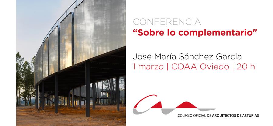 Conferencia del arquitecto José María Sánchez García