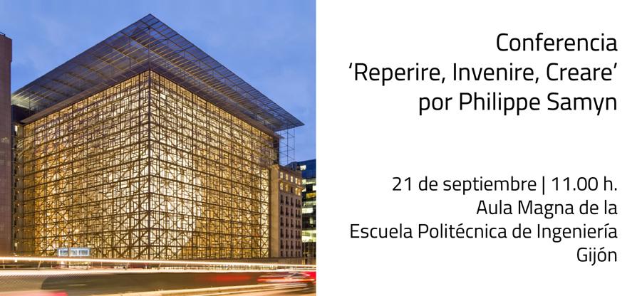 Conferencia del arquitecto belga Philippe Samyn en Gijón