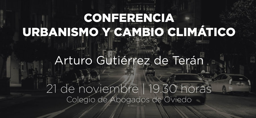 Conferencia sobre `Urbanismo y cambio climático` en el Colegio de Abogados