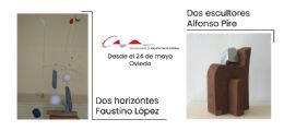 Contrastes en el COAA: `Dos horizontes, dos escultores`