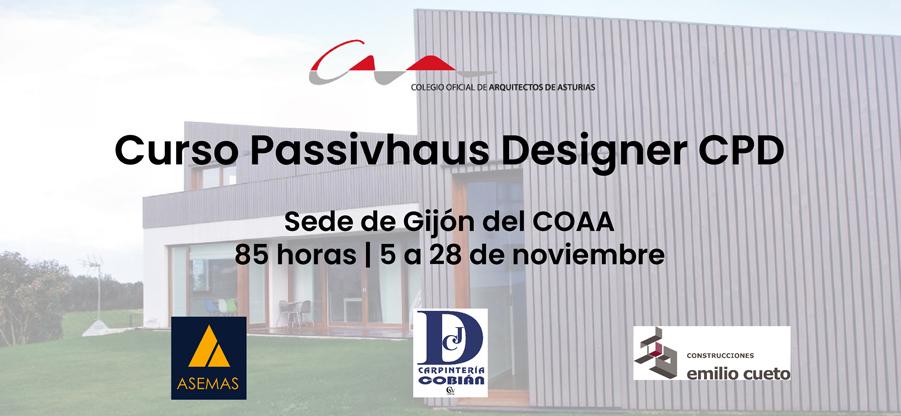 Curso Passivhaus Designer CPD en Gijón