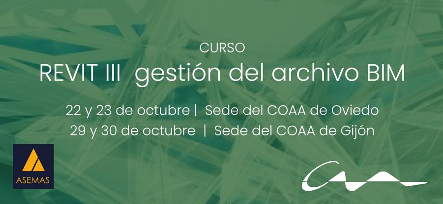 Curso REVIT II gestión del archivo BIM (Gijón y Oviedo)