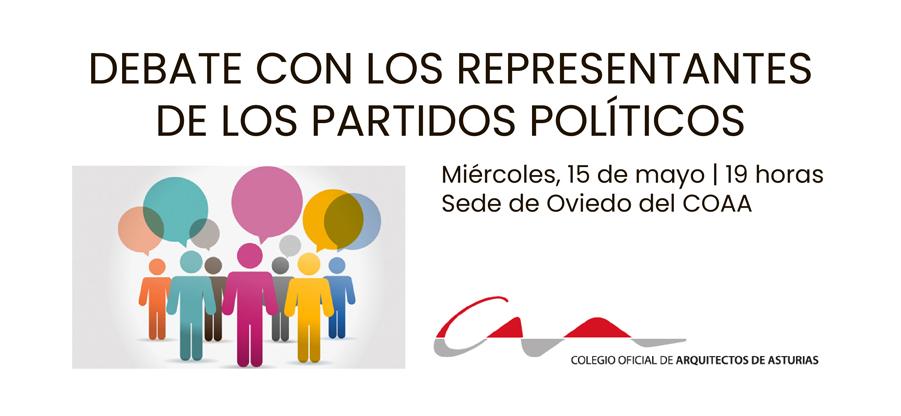 Debate en el COAA con los representantes de los partidos políticos