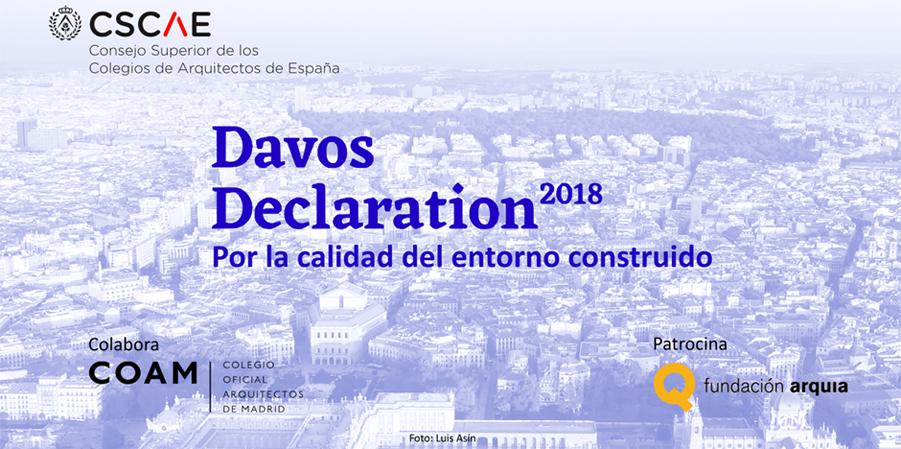 Declaración de Davos 2018: Por la calidad del entorno construido