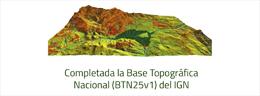 Disponible la versión 1 de la Base Topográfica Nacional 1:25:000