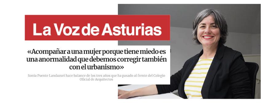 El COAA en los medios: Entrevista a la Decana en La Voz de Asturias