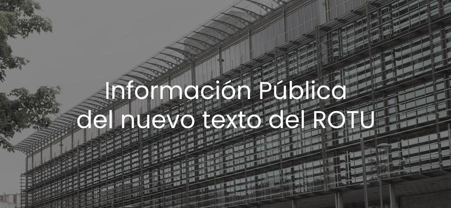 El Principado somete a información pública el nuevo texto del ROTU
