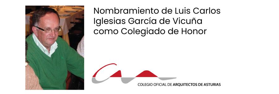 El abogado Luis Carlos García de Vicuña, colegiado de honor a título póstumo
