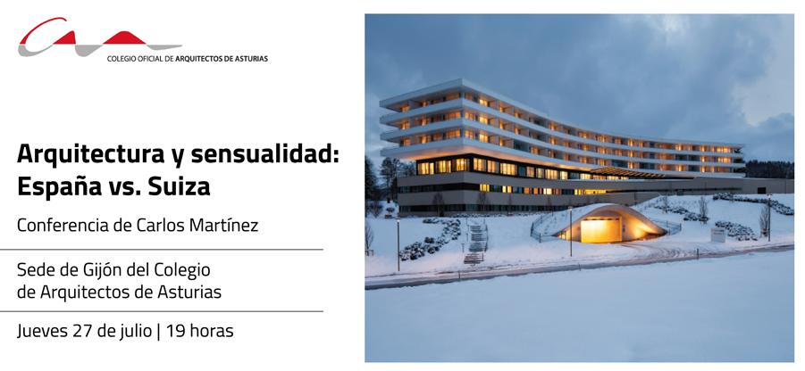 El trabajo del arquitecto en Suiza. Conferencia de Carlos Martínez