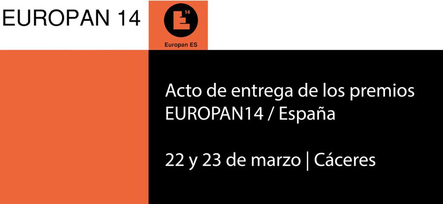 Entrega de los premios EUROPAN14 / España