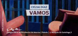 Exposición de Celsa Díaz en la sede de Oviedo del COAA