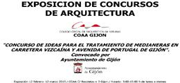 Exposición del concurso de ideas para el tratamiento de medianeras en carretera vizcaína y avenida de Portugal de Gijón (COAA Gijón)