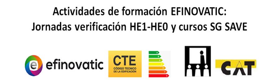Formación EFINOVATIC - Jornadas verificación HE1-HE0 con CE3X y cursos SG SAVE