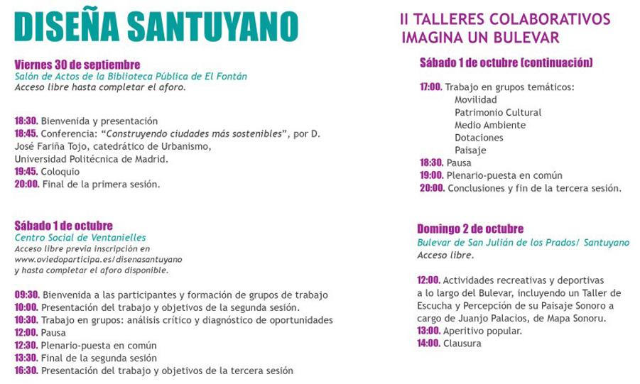 II Talleres colaborativos `Diseña Santuyano`