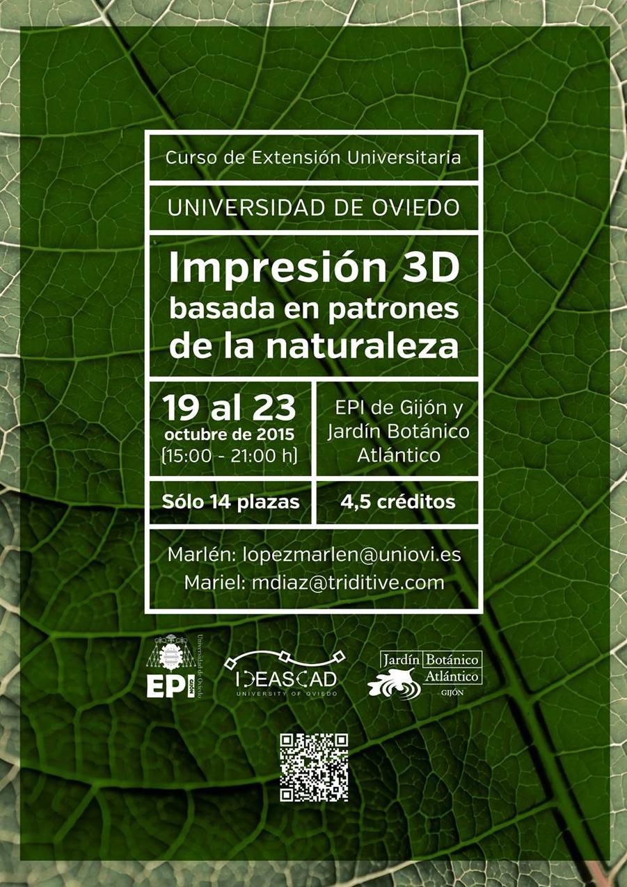 Impresión 3D Basada en Patrones de la Naturaleza
