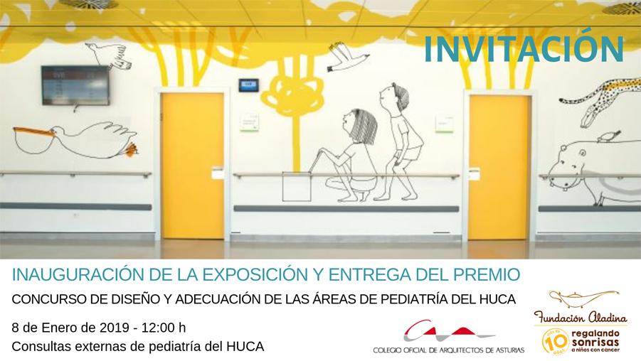 Inauguración de exposición y entrega del premio del concurso de ideas para las áreas de pediatría del HUCA