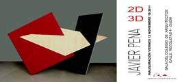 Inauguración de la exposición ´2D-3D´ de Javier Pena