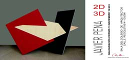 Inauguración de la Exposición `2D-3D` de Javier Pena