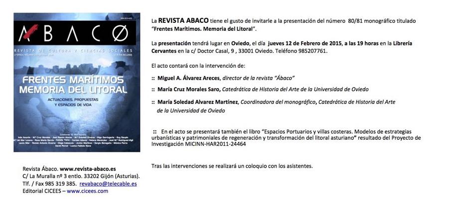 Invitación Revista Abaco