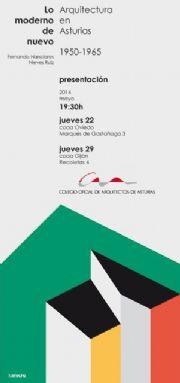 Invitación `Lo moderno de nuevo. Arquitectura de Asturias 1950-1965`