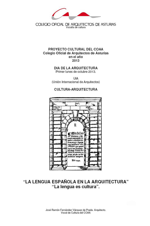La Lengua Española en la Arquitectura