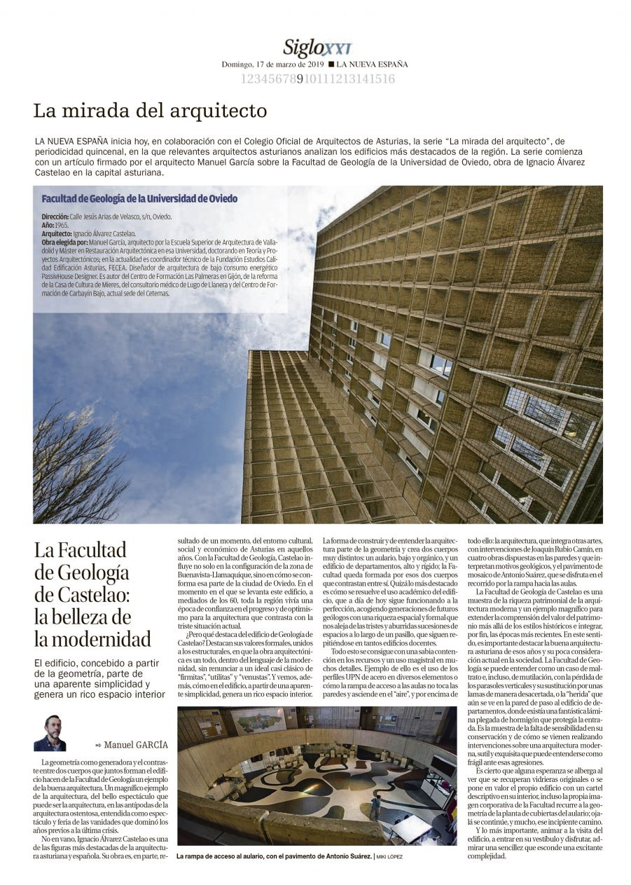 La mirada del arquitecto, en La Nueva España