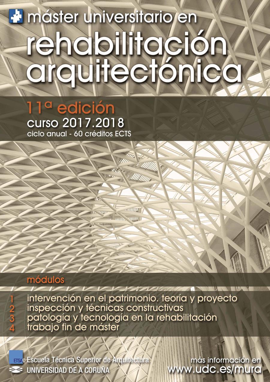 Máster Universitario en Rehabilitación Arquitectónica