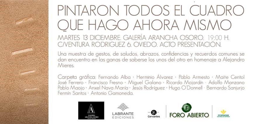 Muestra en honor de Alejandro Mieres