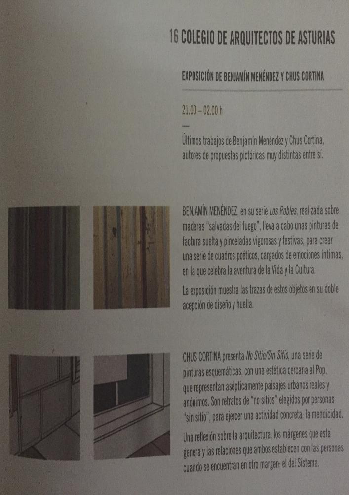 Exposición `Las Tablas de Roble` + `No Sitio / Sin Sitio` de Benjamín Menéndez + Chus Cortina