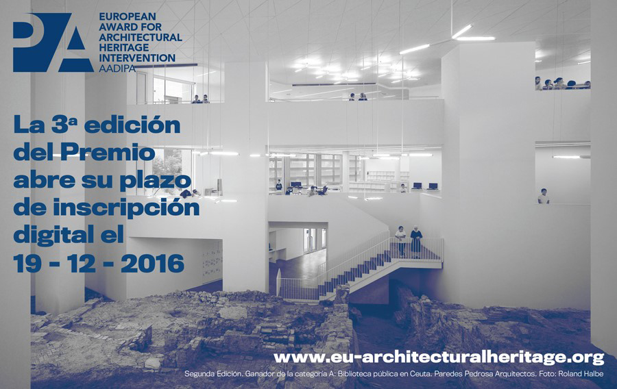 Premio Europeo de Intervención en Patrimonio Arquitectónico AADIPA