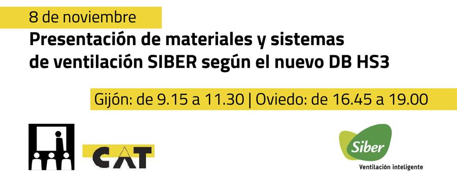 Presentación de materiales y sistemas de ventilación SIBER según el nuevo DB HS3