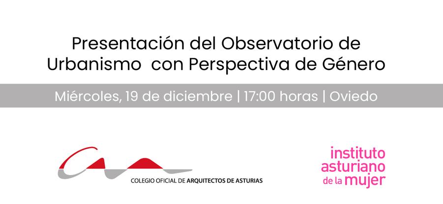 Presentación del Observatorio de Urbanismo con Perspectiva de Género