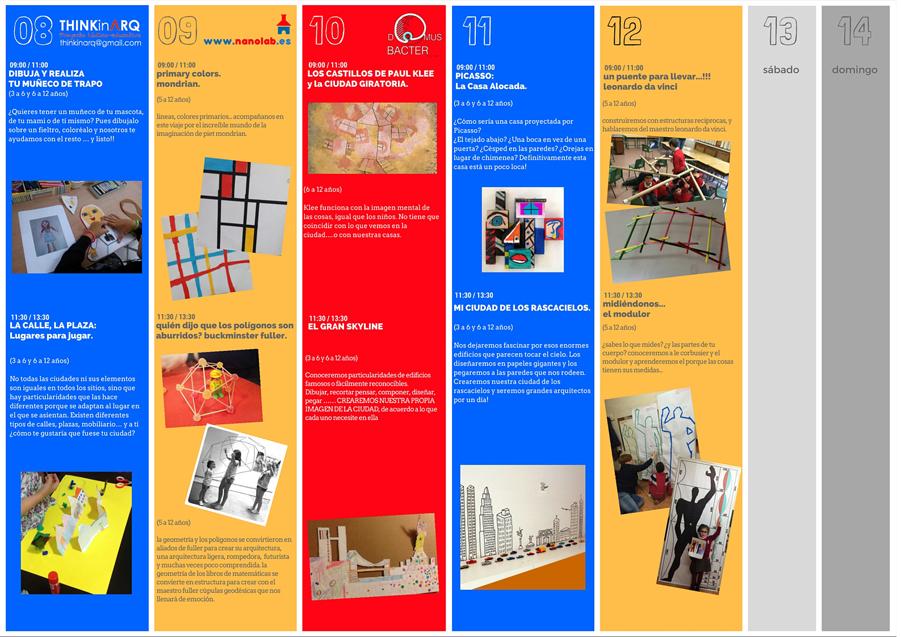 Programación Segunda Semana Agosto 2016 (Talleres Infantiles Arquitectura)