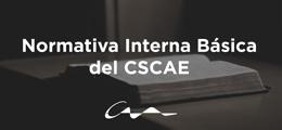Publicada la normativa interna básica del CSCAE