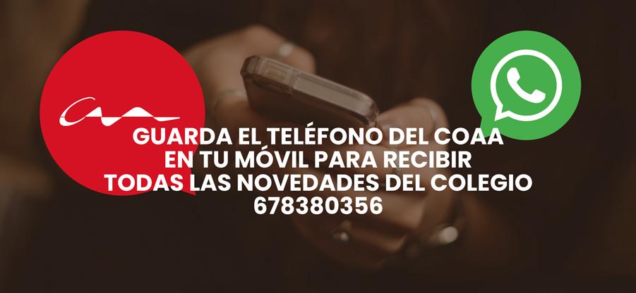Recibe las actividades del COAA en tu móvil