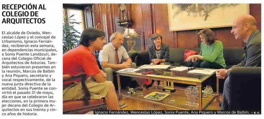 Reunión con el Ayuntamiento de Oviedo