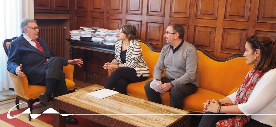 Reunión con el presidente del TSJA, Ignacio Vidau