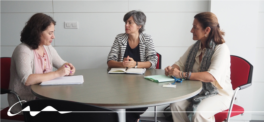 Reunión con la directora general de Justicia, Encarnación Vicente