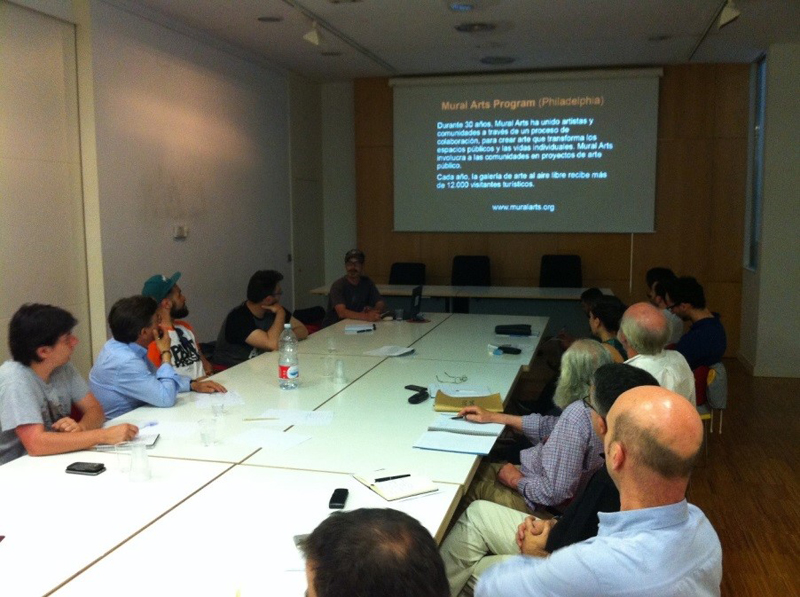 Reunión del COAA con SOS Cultura y Ayto
