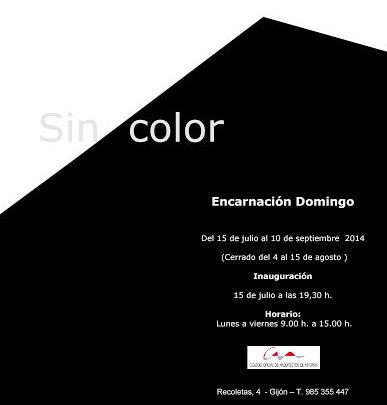 Tarjeta Exposición `Sin color` (Encarnación Domingo)
