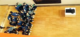 Visita escolar a la Exposición en la Sede del COAA en Oviedo