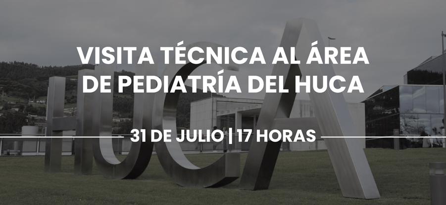 Visita técnica a las áreas de pediatría del HUCA