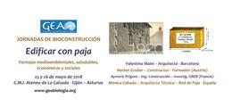 ´Jornadas de Bioconstrucción. Edificar con Paja´ en Gijón