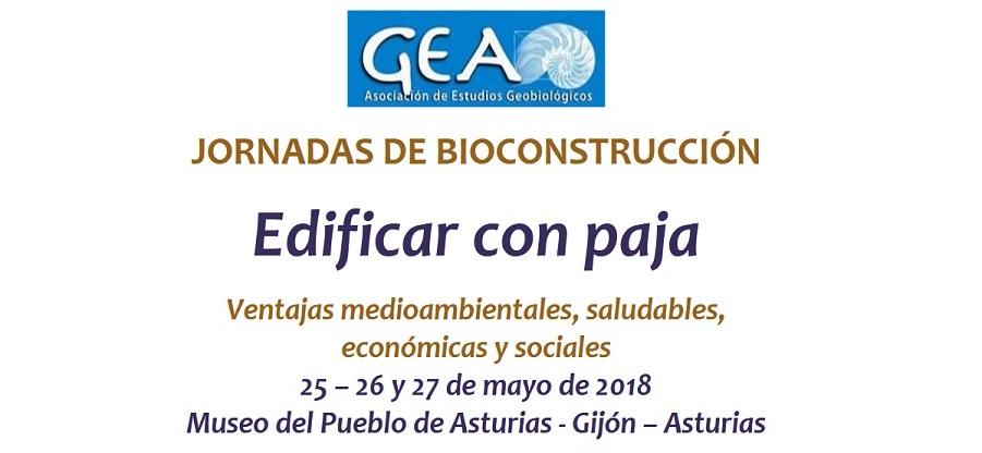 ´Jornadas de Bioconstrucción: Edificar con Paja´ en Gijón