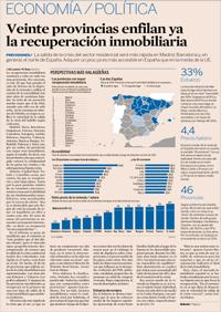La vivienda ya sube en veinte provincias
