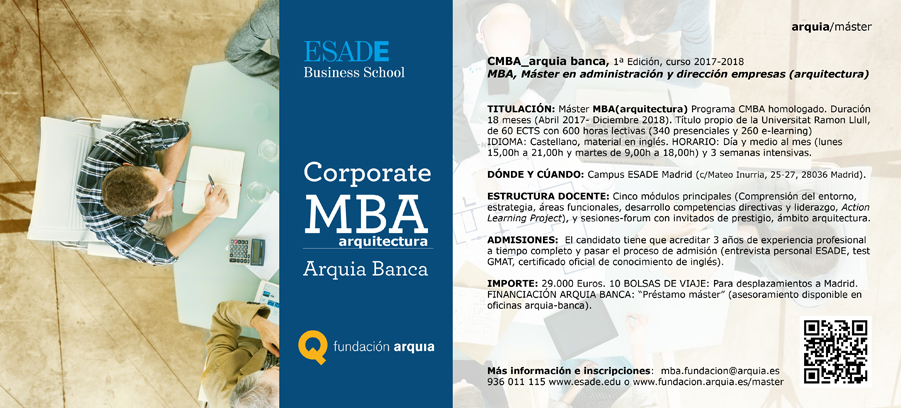 Máster Corporate MBA-Arquia Banca